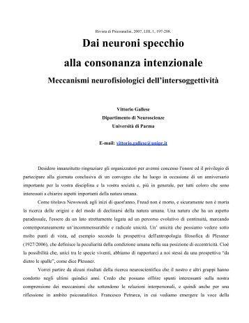 Marcatura retrograda o an - Neuroni specchio e autismo ...