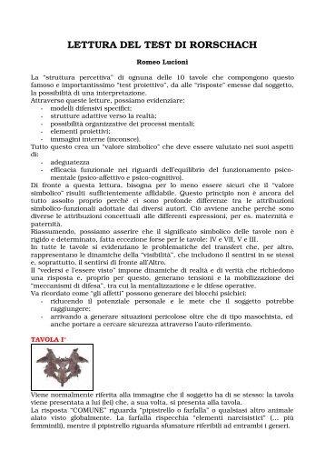 Rorschach magazines - Test di rorschach tavola 1 ...