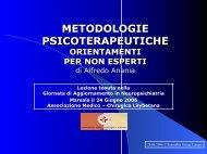 metodologie psicoterapeutiche orientamenti per non-esperti