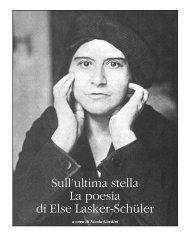 Sull'ultima stella, La poesia di Else Lasker-Schüler – n. 190 ...
