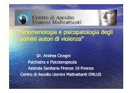 """""""Fenomenologia e psicopatologia degli uomini autori di violenza"""""""