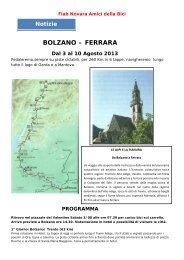 03-10 agosto BOLZANO - FERRARA - Amici Della Bici