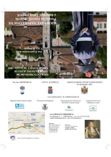 porcia_giornate napoleoniche 2010_depliant 1 - Giro FVG