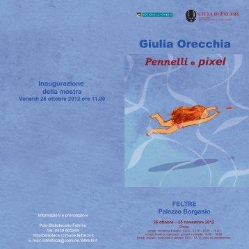 Giulia Orecchia Giulia Orecchia Giul - polo bibliotecario feltrino