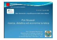 Poli Museali: ricerca, didattica ed economia turistica Poli ...