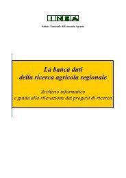 Archivio informatico e guida alla rilevazione dei progetti di ... - Inea