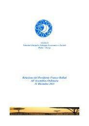 relazione presidente bollati assemblea ordinaria - Vises