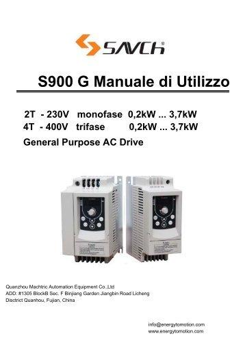 S900 G Manuale di Utilizzo - Inverter