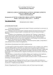 Programma Prof. Bertoldi (pdf, it, 14 KB, 12 - Università degli Studi di ...
