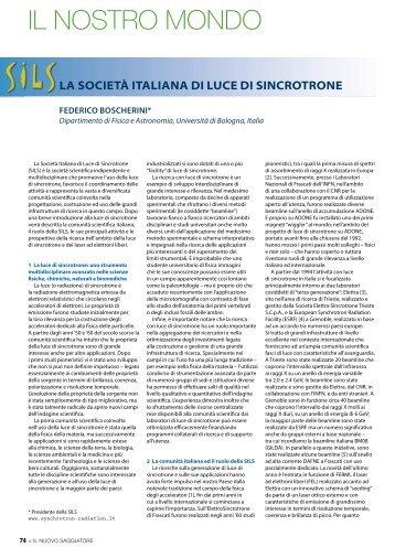IL NOSTRO MONDO - Società Italiana di Fisica