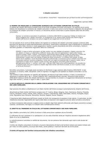 Emejing Attestato Di Soggiorno Per Cittadini Comunitari Photos ...