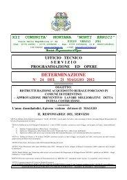 DETERMINAZIONE - XII Comunità montana 'Monti Ernici'
