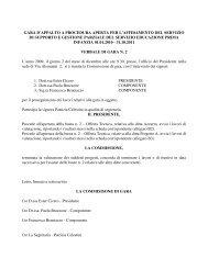 gara d'appalto a procedura aperta per l'affidamento del servizio di ...
