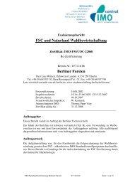 FSC und Naturland Waldbewirtschaftung Berliner Forsten - IMO