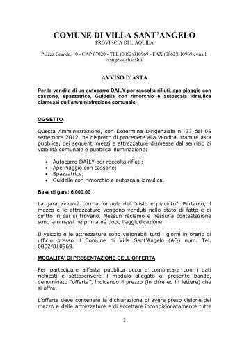 Scarica pdf - Comune di Villa Sant'Angelo