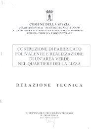 RELAZIONE TECNICA - Comune di La Spezia