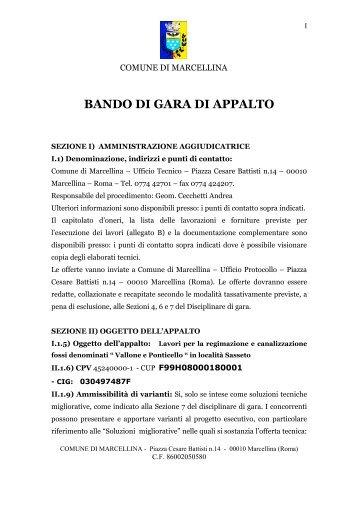 """Fossi """"Vallone"""" e """"Ponticello"""" - Comune di Marcellina"""