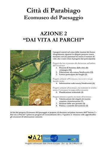 Relazione introduttiva - Ecomuseo e Agenda 21 Parabiago