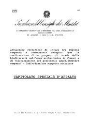 capitolato - Soprintendenza Archeologica di Pompei