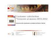 Indagine di Customer Satisfaction - maggio 2012 - Sistema dei ...