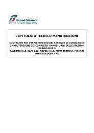 CAPITOLATO TECNICO MANUTENZIONI - Grandi Stazioni S.p.A.