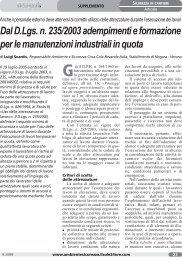 Adempimenti e formazione per le manutenzioni industriali