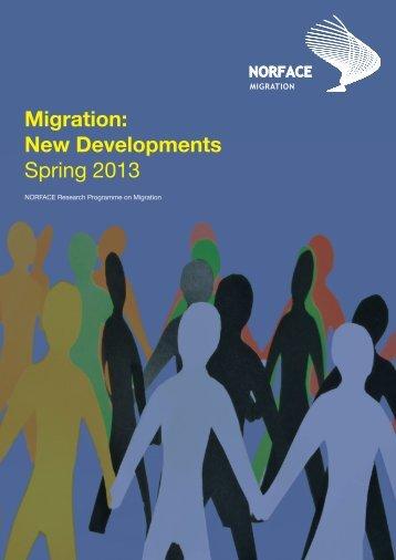 Migration: New Developments Spring 2013