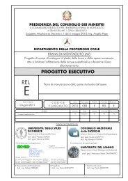 Rel E - Piano di manutenzione della parte strutturale dell'opera
