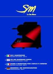 USO E MANUTENZIONE USE AND MAINTENANCE MANUAL ...