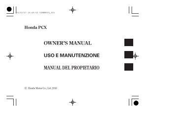 owner's manual - Honda Motorcycles