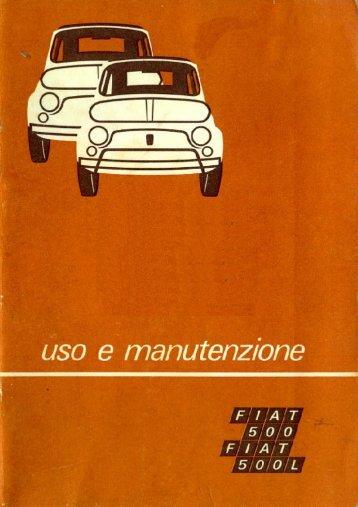 Fiat 500 - Fiat 500L - Libretto d'uso e manutenzione