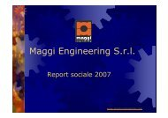 Report sociale 2007 - Maggi-Engineering S.r.l.