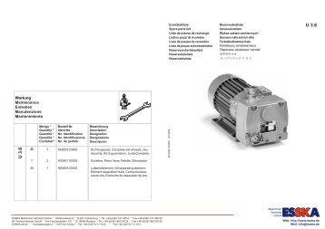 Wartung Maintenance Entretien Manutenzione Mantenimiento