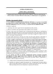 1 SCHEDA INFORMATIVA CODICE PER LA ... - Consorzio Ecofire