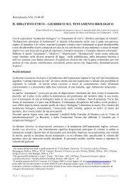 Il dibattito etico-giuridico sul Testamento Biologico - Portale di Bioetica