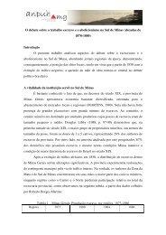 O debate sobre o trabalho escravo eo abolicionismo no Sul de Minas
