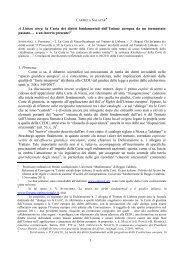 la Carta dei diritti fondamentali dell'Unione europea ... - Gruppo di Pisa