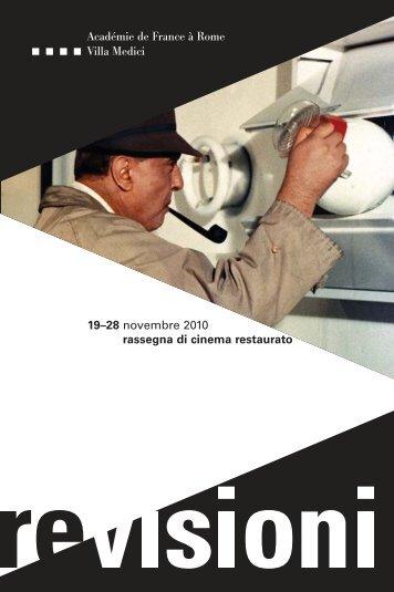 Il catalogo della manifestazione - Cinematografo