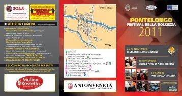 Programma Festival della Dolcezza - Venezia Eventi