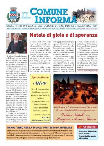 Novembre - Dicembre - Comune di SAN MICHELE SALENTINO