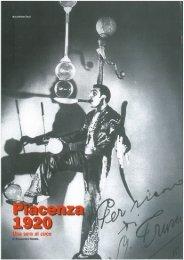 SERENA, A., Piacenza 1920. Una serata al circo - Cedac