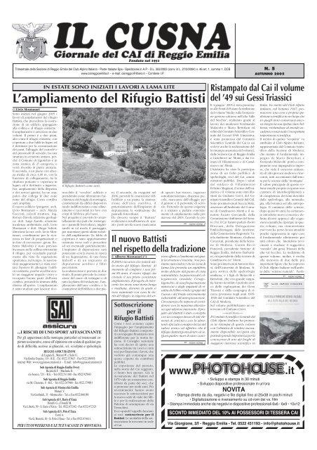 L Ampliamento Del Rifugio Battisti Cai Sezione Di Reggio