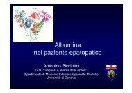 Albumina nel paziente epatopatico
