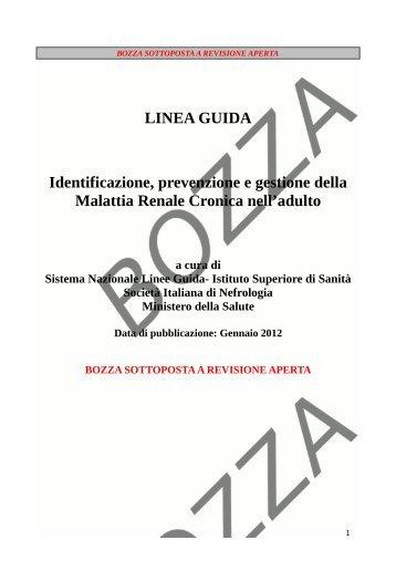 Identificazione, prevenzione e gestione della malattia renale cronica
