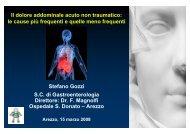Il dolore addominale acuto non traumatico - Centro Francesco Redi