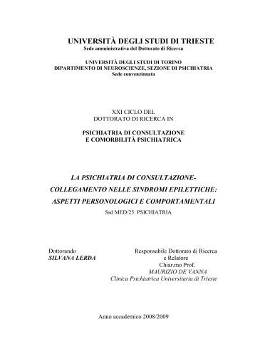 UNIVERSITÀ DEGLI STUDI DI TRIESTE - OpenstarTs - Università ...