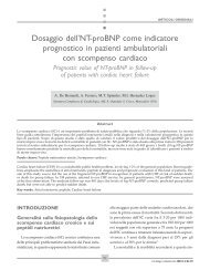 Dosaggio dell'NT-proBNP come indicatore prognostico in - ARCA ...