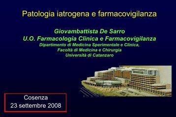 Patologia iatrogena e farmacovigilanza - Associazione Geriatri ...