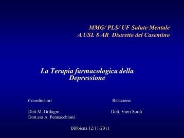 La terapia della Depressione - dr. Vieri Sordi - Formazione Casentino