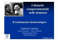 I disturbi comportamentali nelle demenze - Il trattamento ...